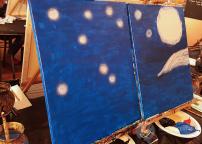 Chicago Skyline Van Gogh Style Painting BYOB