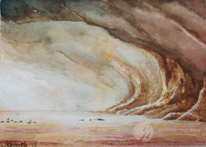 World Watercolor Month - Day 1. Mad Max Fury Road; painting 2.
